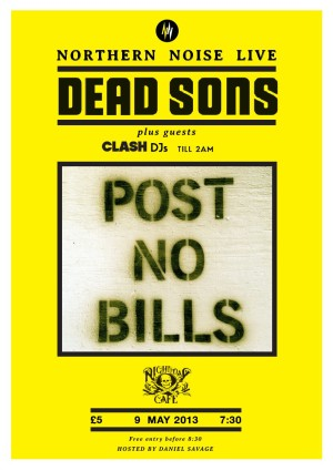 Northern Noise Live Poster Feat. Dead Sons