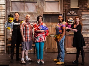 The cast of Avenue Q. Photo Credit Darren Bell